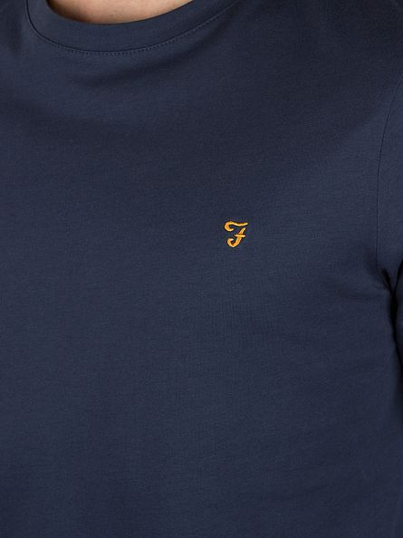 Farah Vintage Navy Denny Longsleeved T-Shirt