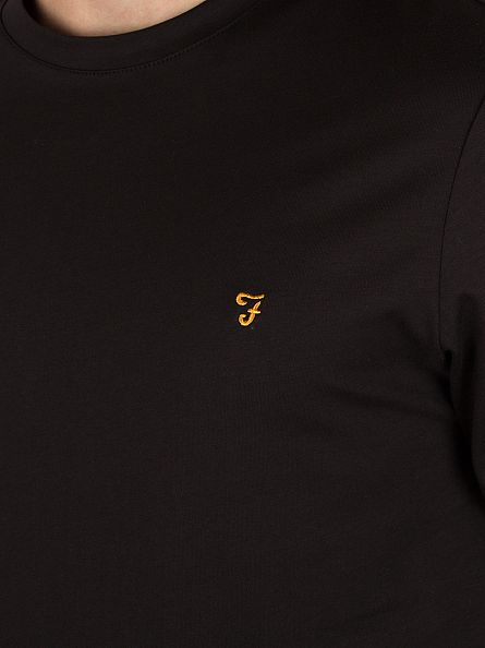 Farah Vintage Black Denny Longsleeved T-Shirt