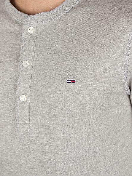 Hilfiger Denim Light Grey Heather Trump Longsleeved Henley T-Shirt
