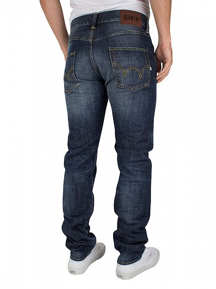 Edwin Blue Breeze Used ED-55 Relaxed Tapered Jeans