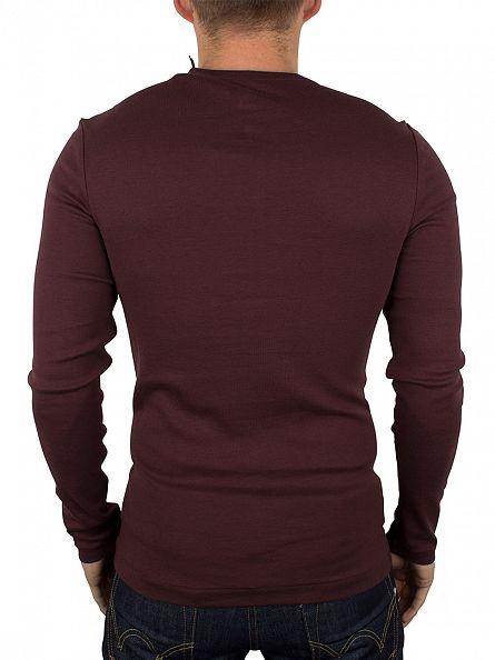 G-Star Dark Fig Gunner Granddad Longsleeved T-Shirt