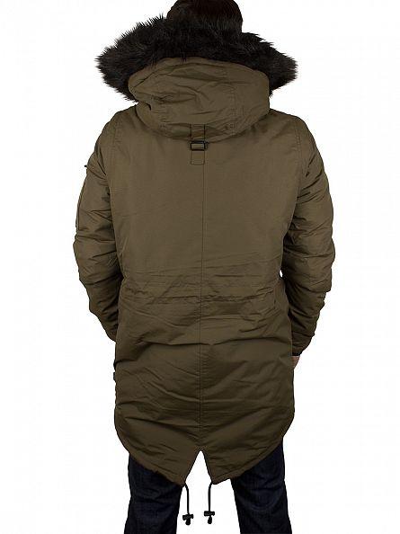 Bellfield Khaki Nimrod Fur Hood Jacket