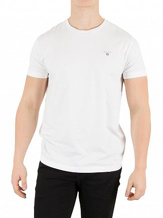 Gant White Solid Logo T-Shirt