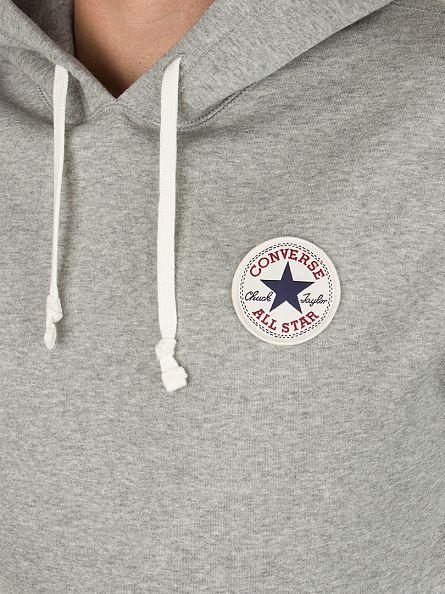 Converse Vintage Grey Core Popover Logo Hoodie