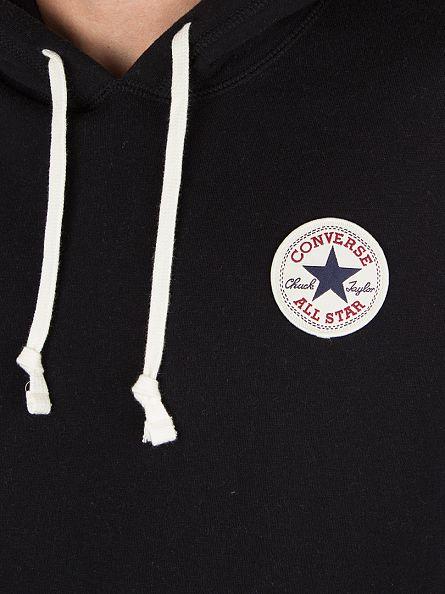 Converse Black Core Popover Logo Hoodie