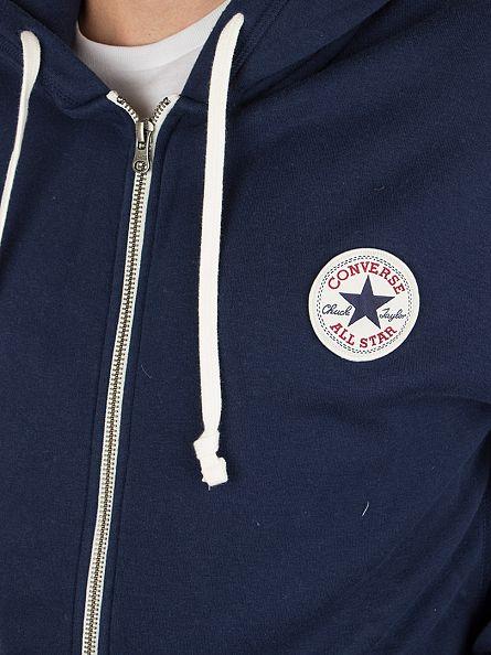 Converse Nighttime Navy Core Full Zip Logo Hoodie