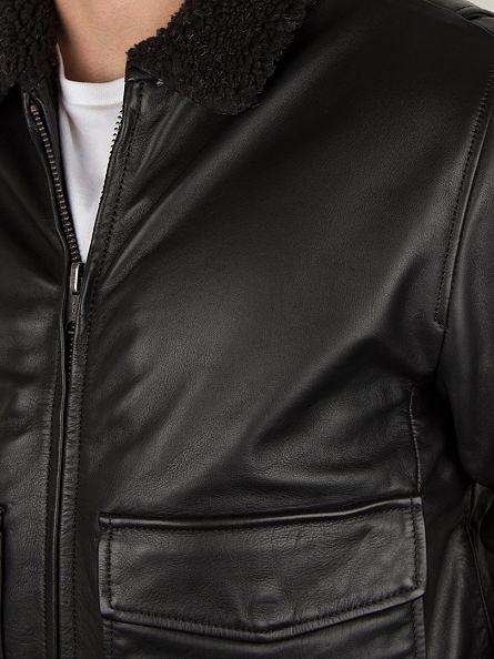 Levi's Black Leather Flight Jacket