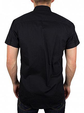 Jack & Jones Black Shortsleeved Bean Plain Shirt