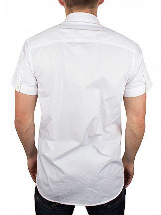 Jack & Jones White Shortsleeved Bean Plain Shirt
