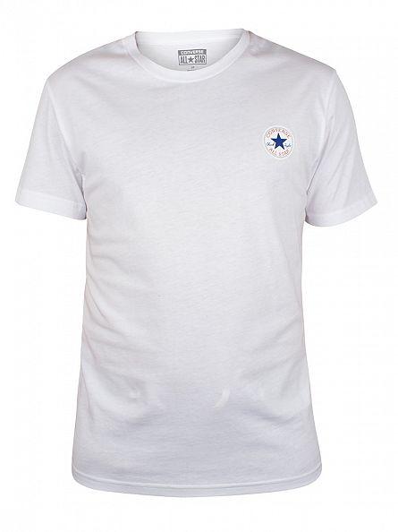 Converse White Core Left Chest Logo T-Shirt