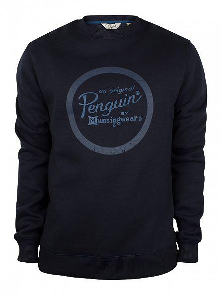 Original Penguin Dark Sapphire Circle Combo Logo Print Sweatshirt