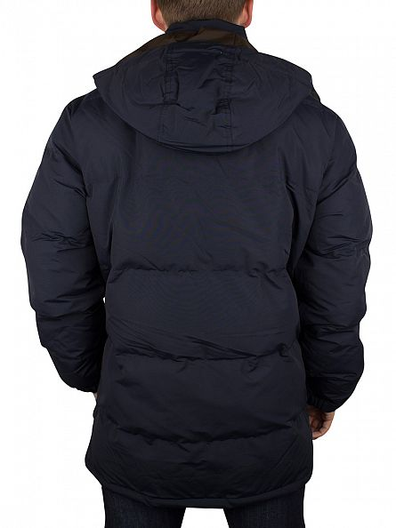 Farah Vintage True Navy Lynstead Zip Coat