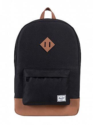 Herschel Supply Co Black/Tan Heritage Backpack