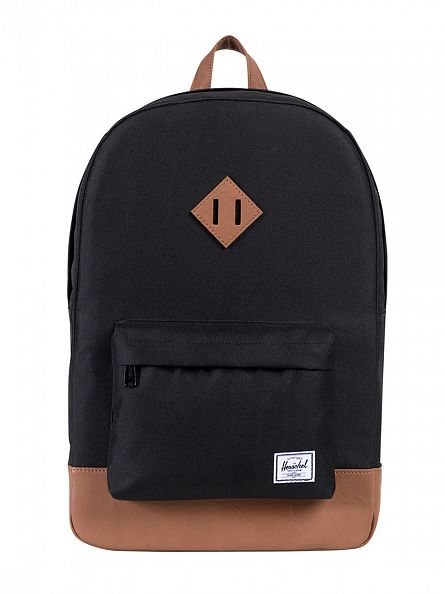 Herschel Supply Co Black/Tan Heritage Backpack