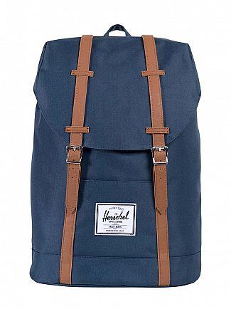 Herschel Supply Co Navy/Tan Retreat Straps Backpack