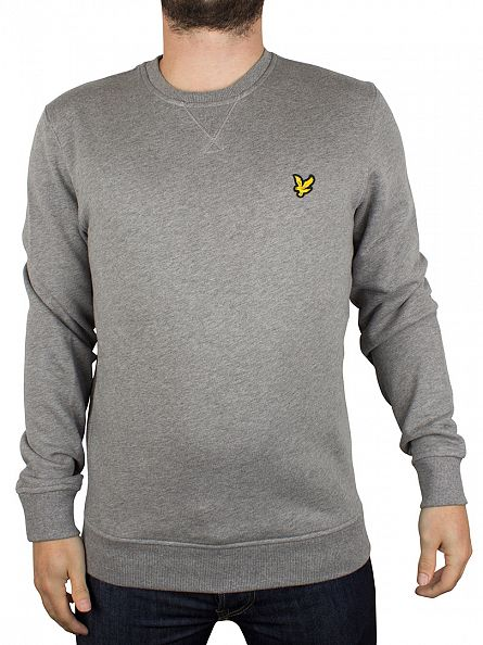 Lyle & Scott Mid Grey Marl Logo Sweatshirt