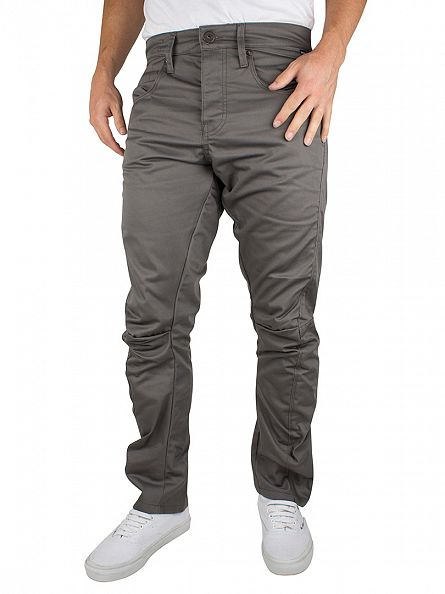 Jack & Jones Charcoal Grey Stan Lester Anti Fit Chinos