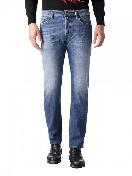 Diesel Blue Waykee 0844W Regular Straight Jeans