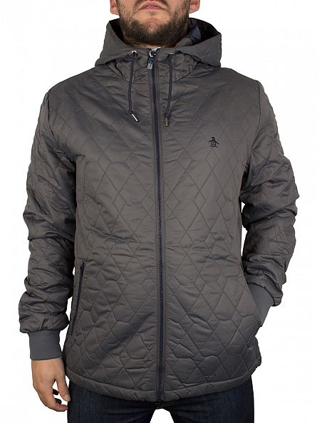 Original Penguin Eiffel Tower Quilted Hooded Ratner Jacket