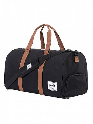 Herschel Supply Co Black/Tan Novel Duffle Bag