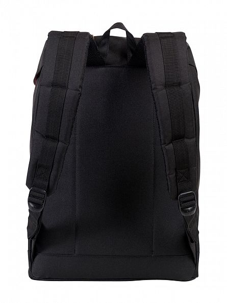Herschel Supply Co Black/Tan Retreat Straps Backpack