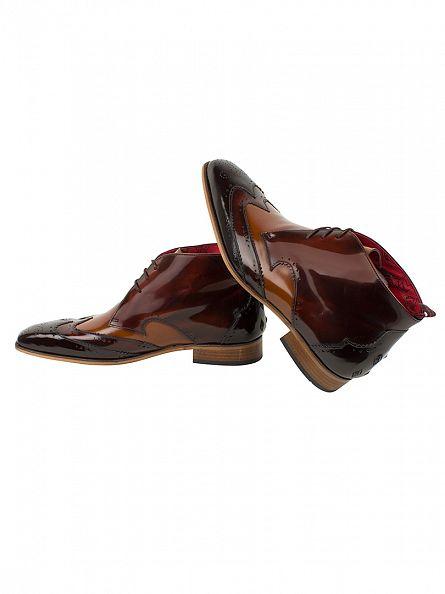 Jeffery West College Dark Brown/College Mid Brown Capone Shoes