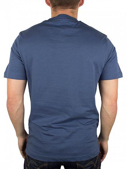 Original Penguin Dark Denim Distressed Circle Logo T-Shirt