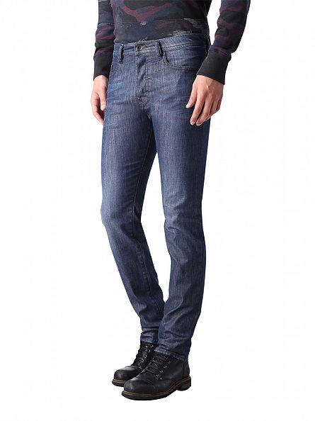 Diesel Blue Buster 0844G Regular Sllim Tapered Jeans