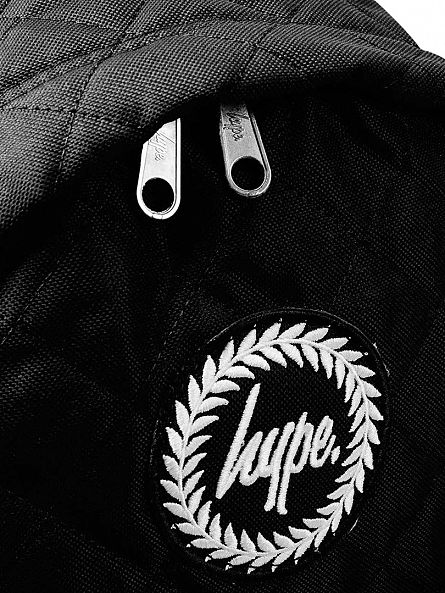 Hype Black Quilted Logo Backpack