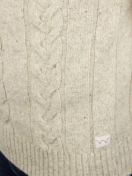 Edwin Ecru  Shackle Cable Knit
