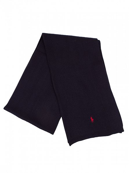 Polo Ralph Lauren Hunter Navy Rib Logo Scarf