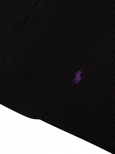 Polo Ralph Lauren Polo Black Rib Logo Scarf
