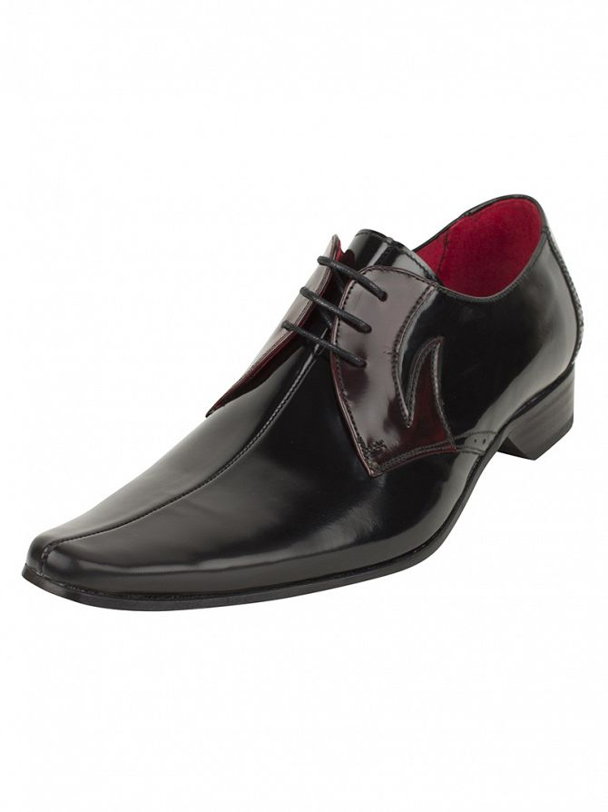 Jeffery West College Black/College Burgundy Pino Shoes