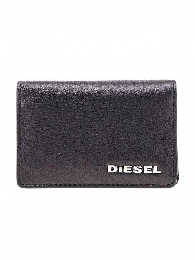 Diesel Black Dukez Card Holder Wallet