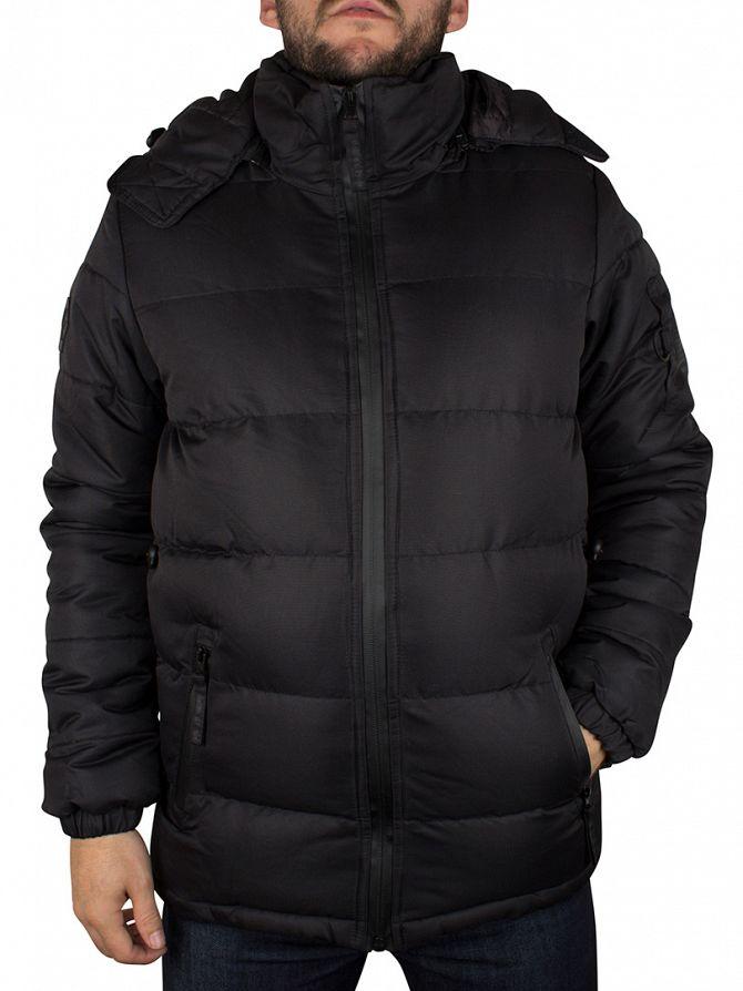 Bellfield Black Ludlow Hooded Puffa Jacket