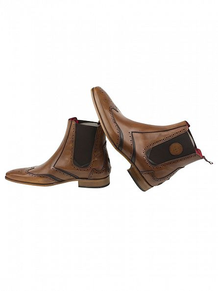 Jeffery West Lavato Tan Scarface Boots