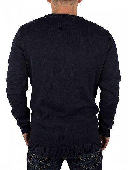 Jack & Jones Navy Blazer Bryan Zip Knit