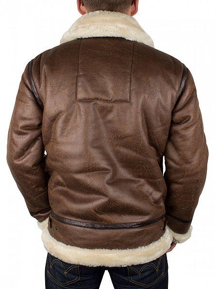 Alpha Industries Brown Fur Collar B3-FL Jacket
