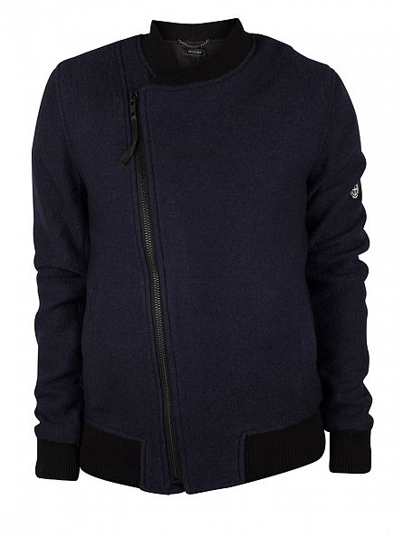Religion Dark Navy Boiler Assymetric Jacket