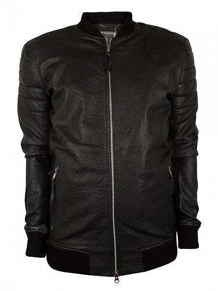 Religion Jet Black Leven Leather Jacket