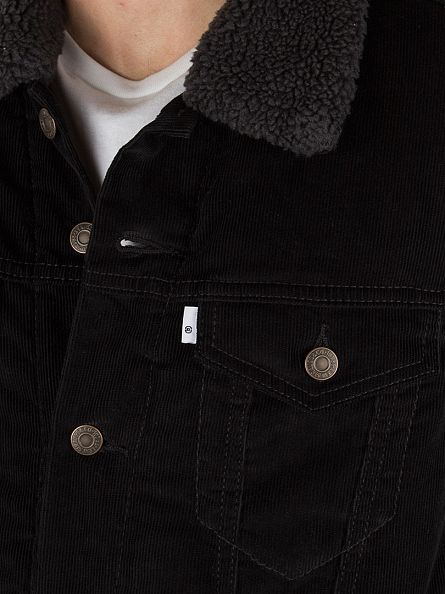 Levi's Black Sherpa Trucker Jacket
