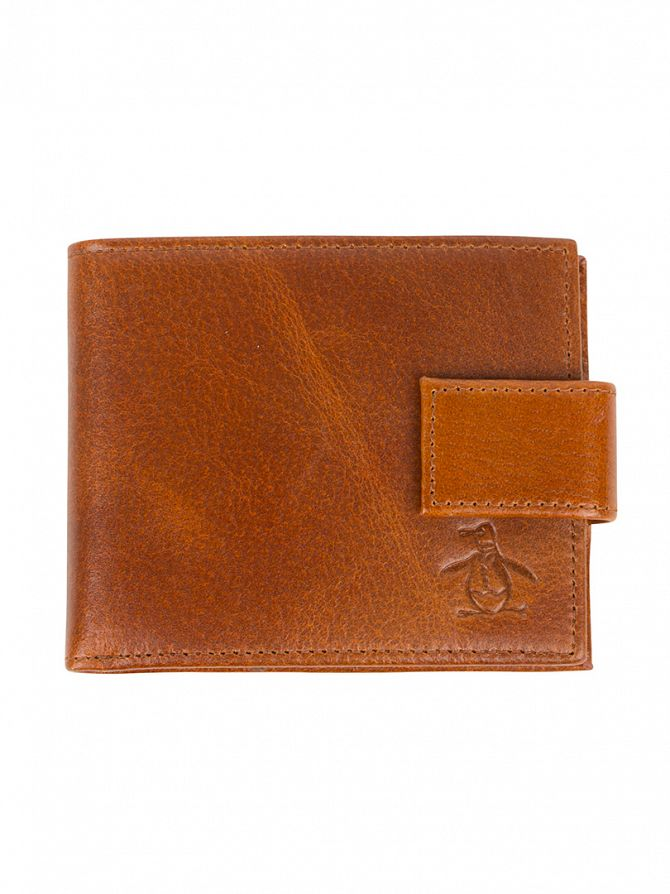 Original Penguin Chocolate Torte High Shine Wallet With Tab