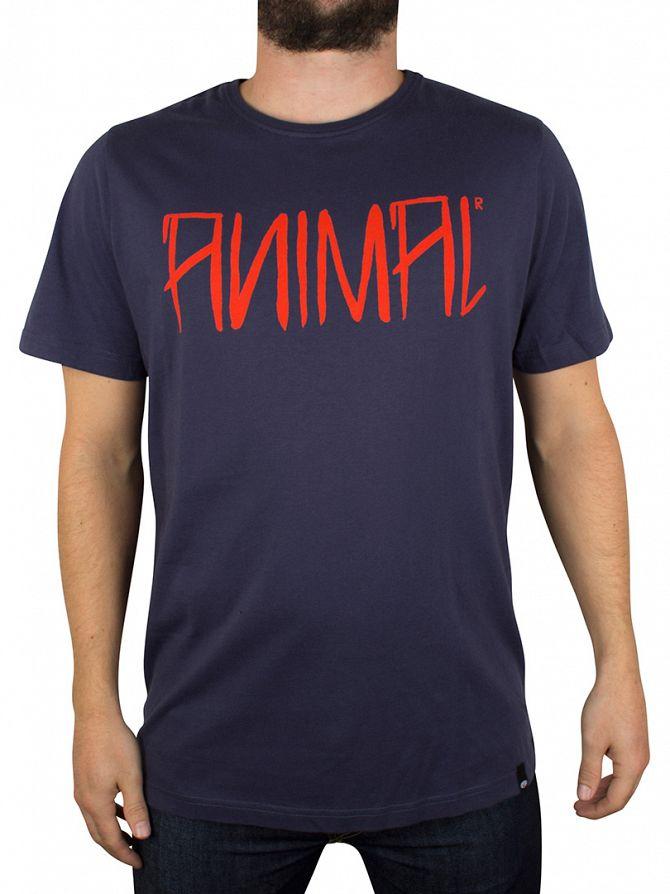 Animal Indigo Logo Graphic T-Shirt
