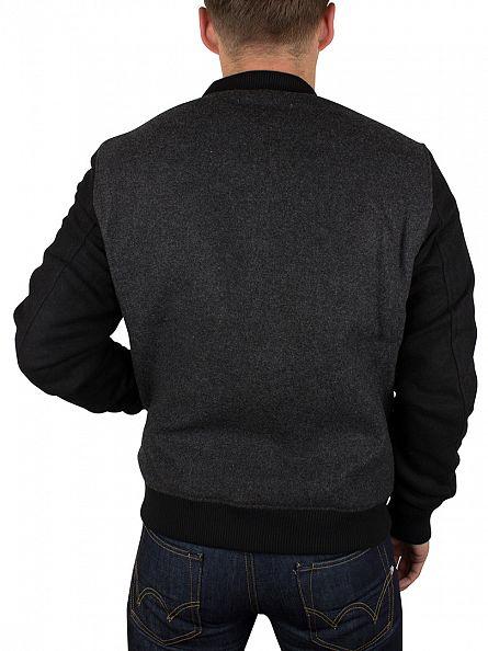Edwin Dark Grey/Black Baller Bomber Jacket