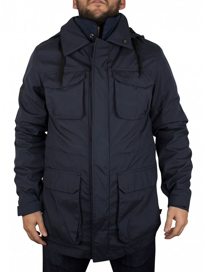 Bellfield Navy Gorin 3 In 1 Pocket Jacket