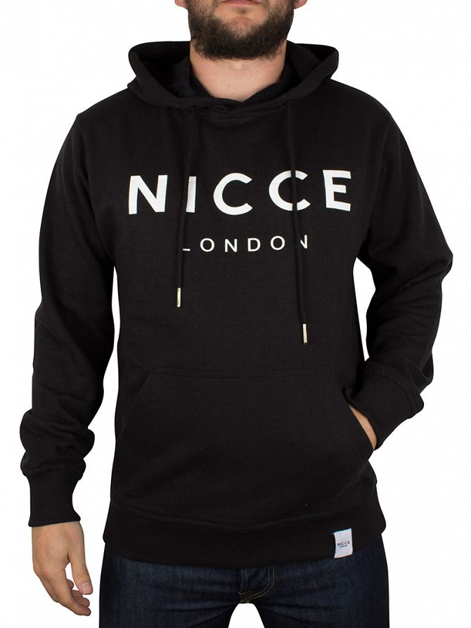 Nicce London Black Original Logo Hoodie