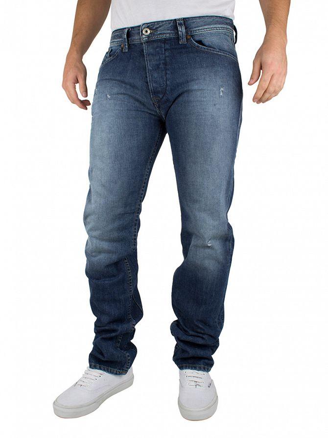 Diesel Blue Darron 0844U Regular Slim Tapered Jeans