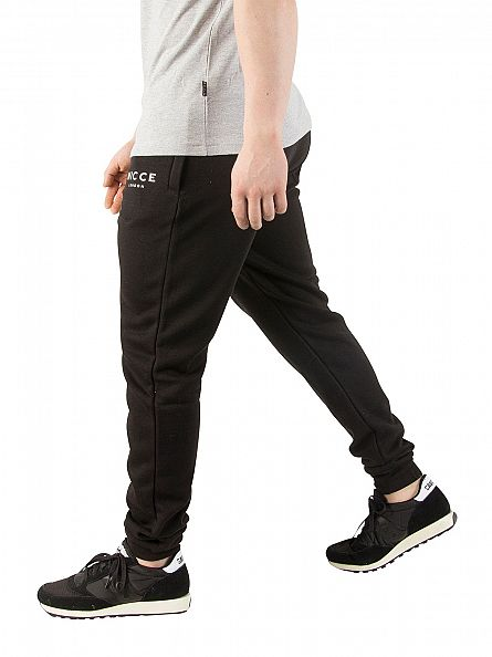 Nicce London Black Original Logo Joggers
