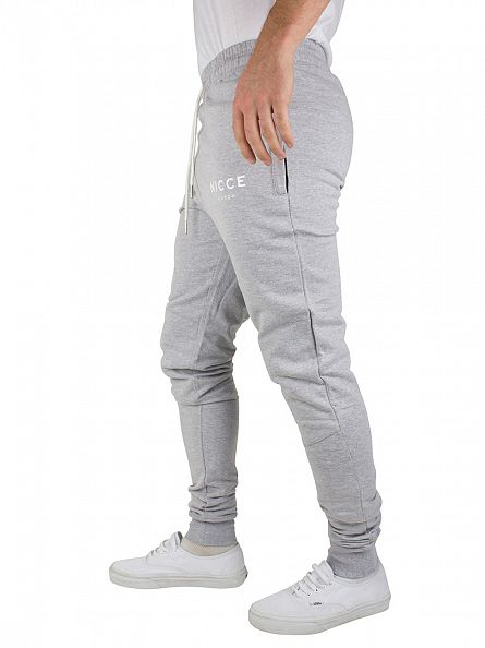 Nicce London Grey Logo Joggers