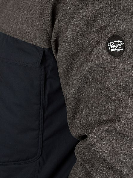 Original Penguin Dark Charcoal Heather Imperial Hooded Sport Jacket